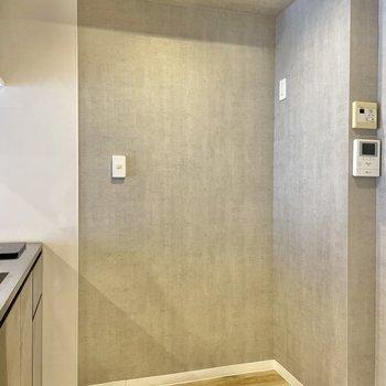 後ろに家電製品を置きましょう。TVモニターフォン、お風呂の設定もここから。