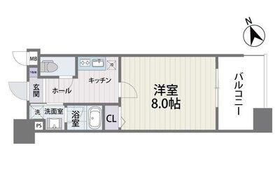 S-FORT福岡県庁前の間取り