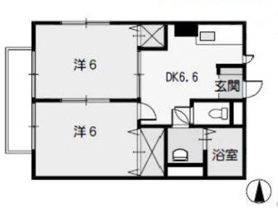 上川アパートの間取り