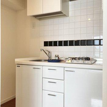 収納力が高いので、スッキリとしたキッチンに。