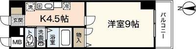 シャトー広島の間取り