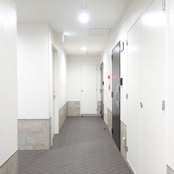 【共用部】廊下も清潔な雰囲気です!