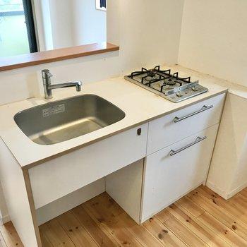 対面型のキッチンです。
