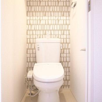 トイレも同じ!統一感がありますね。(※写真は3階の同間取り別部屋のものです)