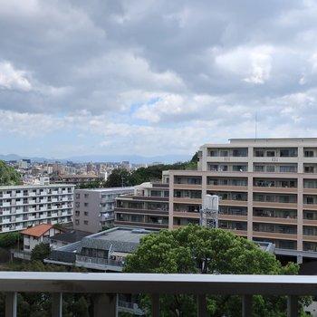 高台ならではの心地よい眺望〜♩
