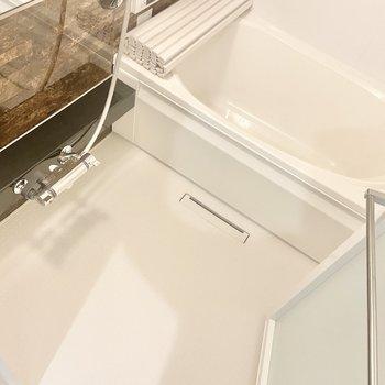 浴槽だけでなく、洗い場も広いのです!(※写真は2階の同間取り別部屋のものです)