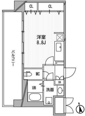 CASSIA福島駅前の間取り