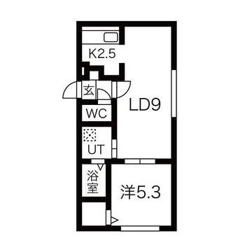 2人でも生活しやすい1LDKのお部屋です。