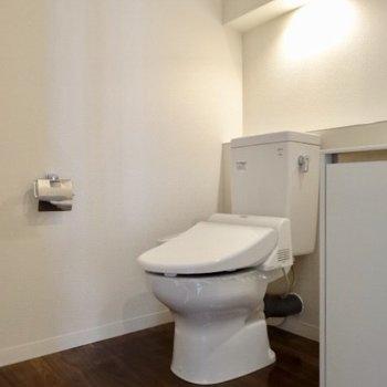 そして同じ空間にトイレもあります。照明が素敵だなぁ
