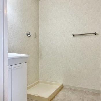 では水廻りも見ていきましょう。洗面所はゆとりあり。