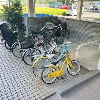 【共用部】駐輪場もここに。