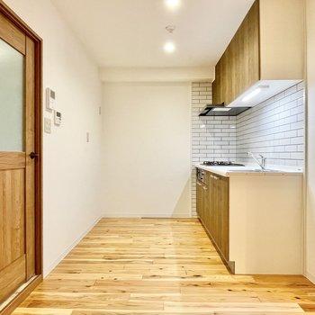 キッチン家電のスペースもちゃんとあります。