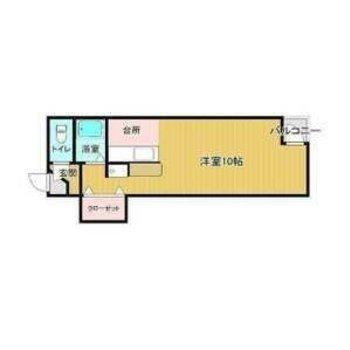 約10帖とゆとりのある広さのお部屋になります。