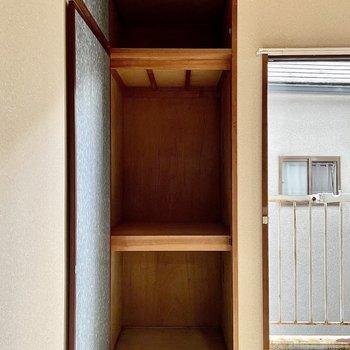 【和室】収納は奥行きがあります。