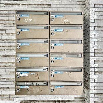 【共有部】メールボックスはダイヤル施錠式です。