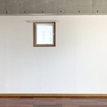 反対側の壁は小窓付き。ちょっとした換気に使えそうです。