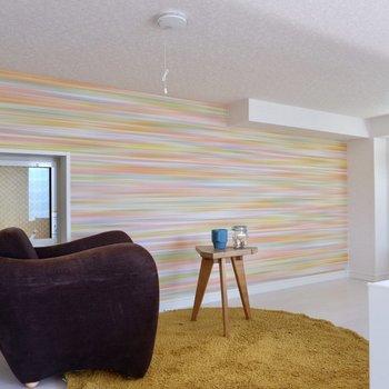 壁の色に合わせて暖色系のマットを敷こうかな。