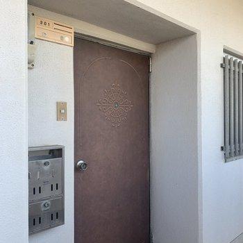 玄関はこんな感じです。※写真は301号室のものです