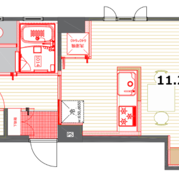 リビングと洋室が分けられるお部屋!