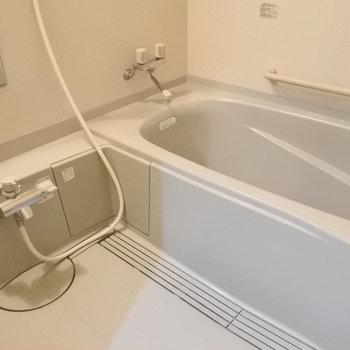大きめのバスタブが嬉しいお風呂。