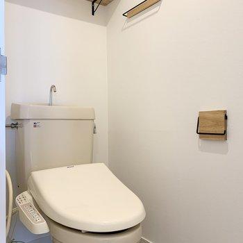 トイレ既存利用ですがウォシュレット付きです!