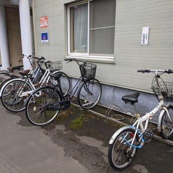 敷地内に駐輪場があります。