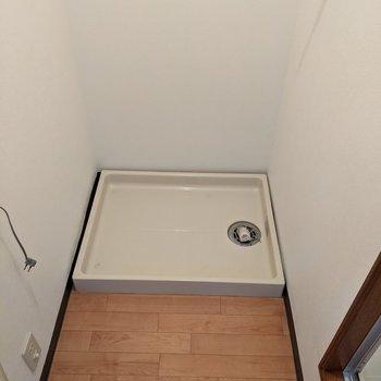 脱衣所部分に洗濯機置場があります。