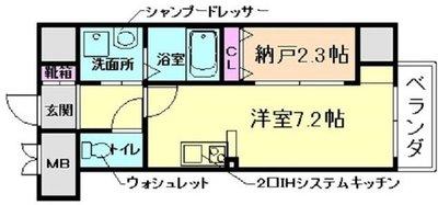 ONLYONE鶴之荘の間取り