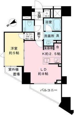 ザ・パークハウス渋谷笹塚の間取り