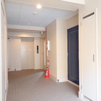 【共用部】廊下は幅があって荷物が運びやすい!