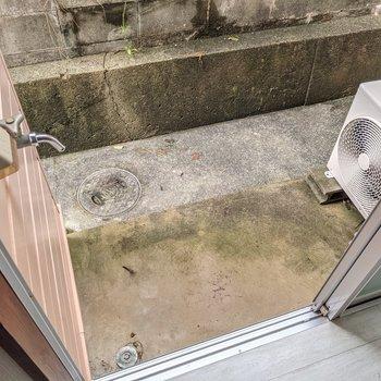 洗濯機置場はこちらに。