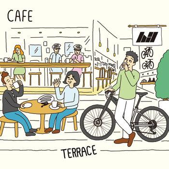 【イメージ】1階に併設されるカフェで新しい出会いがありそうですね!