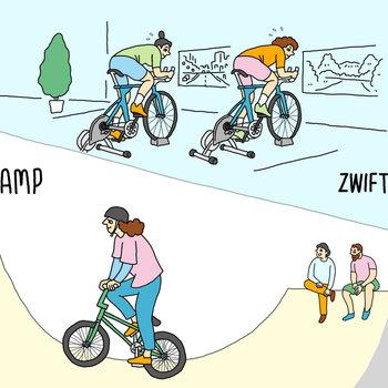 【イメージ】自転車と楽しめる設備があります!