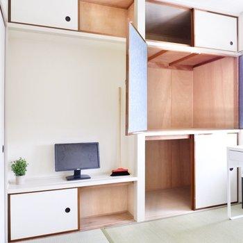 収納スペースも豊富。しっかり整頓して、気持ち良い毎日を。