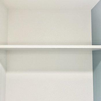上にはちょっとした棚もあります。