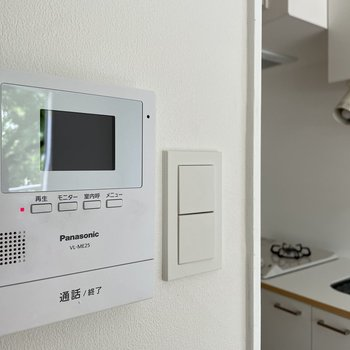 TVモニターフォンはキッチンのそばに。来客時でも安心!