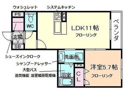 シャーメゾン新大阪の間取り