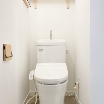 イメージ】トイレも新品+木製小物がおしゃれ〜〜!