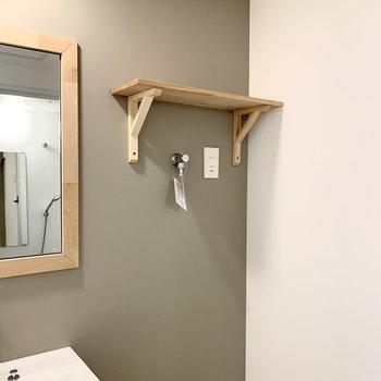 イメージ】洗濯機置場の上には棚までついてる!