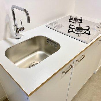 【イメージ】キッチンは2口のガスコンロ!