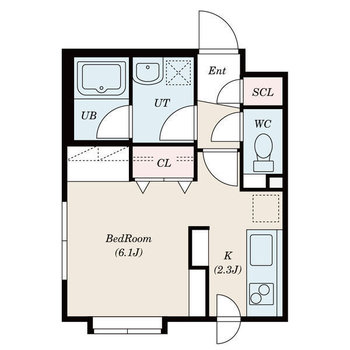 生活しやすい1Kのお部屋です。