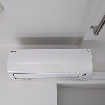 エアコン付きなので夏場も涼しく過ごせます。
