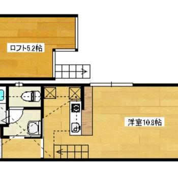ロフトも洋室もゆったりめ。角部屋で窓も2つありますよ。