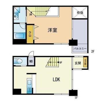 2人暮らしにもぴったり。バルコニーは各階にありますよ!