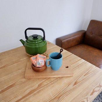 ここでまったりお茶の時間もいいな。