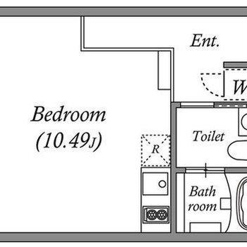 広々ワンルームです。
