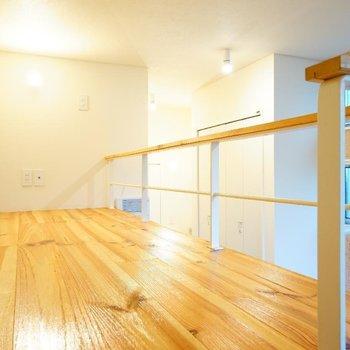 ロフトもゆったりしています。 ※写真は1階の同間取り別部屋のものです