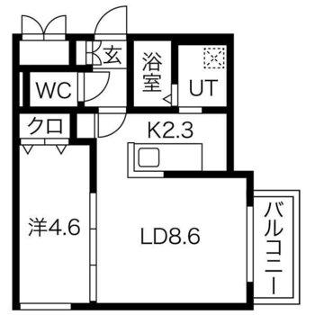 2人でも生活がしやすい1LDKのお部屋です。