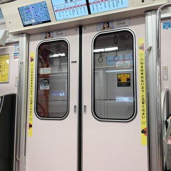始発駅の方南町駅から新宿までわずか11分程!