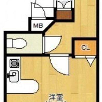 1人暮らしにぴったりなワンルームです。